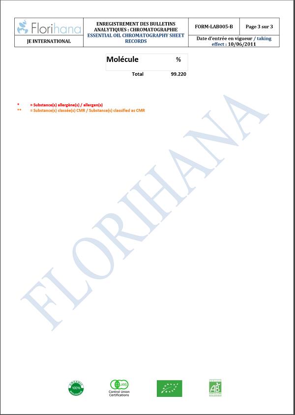 フロリハナ精油 コリアンダーシードオーガニック (5g/5.7ml)