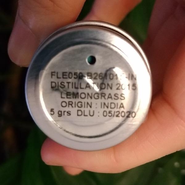 フロリハナ精油 レモングラスオーガニック (5g/6ml)